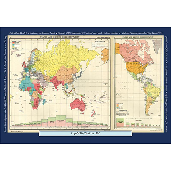 1907 YOUR YEAR YOUR WORLD 400 PIECE JIGSAW Image