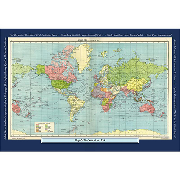 1934 YOUR YEAR YOUR WORLD 400 PIECE JIGSAW Image