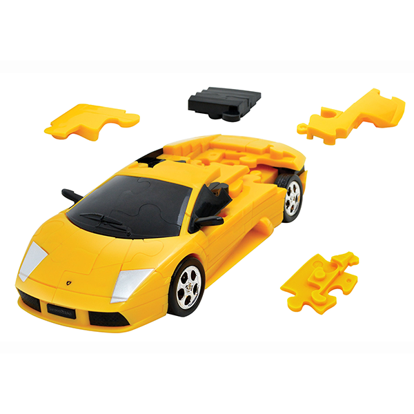 3D PUZZLE CAR LAMBORGHINI YELLOW Image