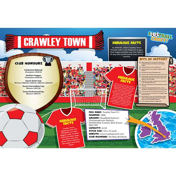 FOOTBALL CRAZY CRAWLEY TOWN 400 PIECE Image