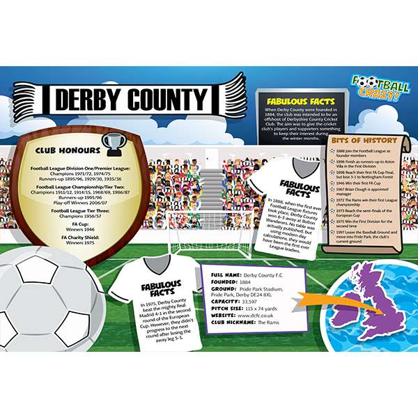FOOTBALL CRAZY DERBY COUNTY 400 PIECE Image