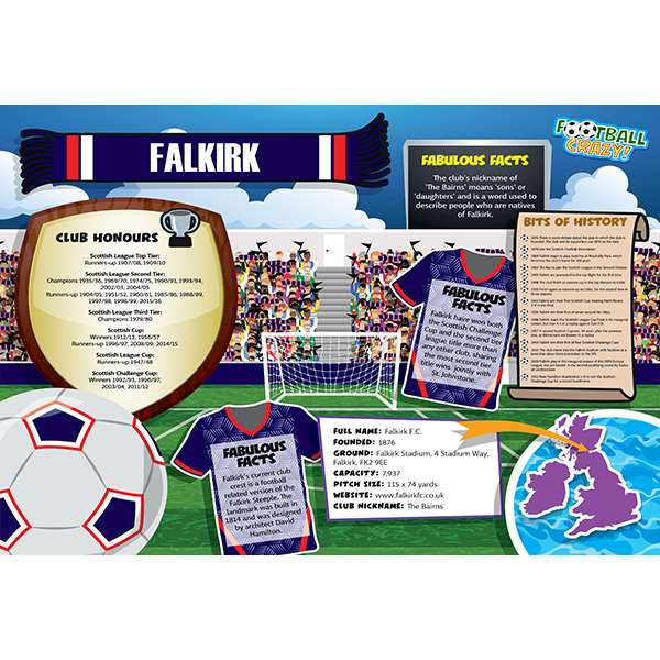 FOOTBALL CRAZY FALKIRK 400 PIECE Image