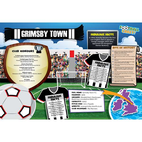 FOOTBALL CRAZY GRIMSBY TOWN (CRF400) Image