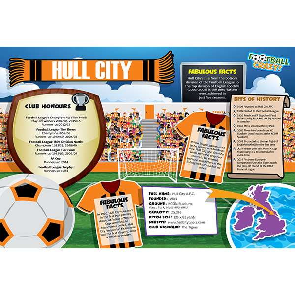 FOOTBALL CRAZY HULL CITY 400 PIECE Image