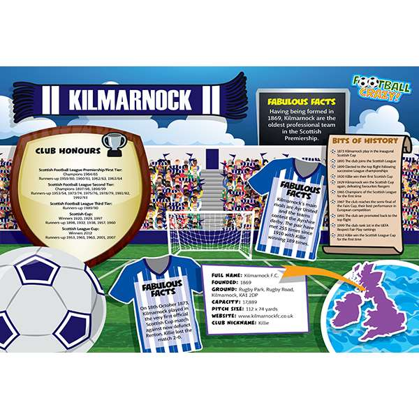 FOOTBALL CRAZY KILMARNOCK 400 PIECE Image