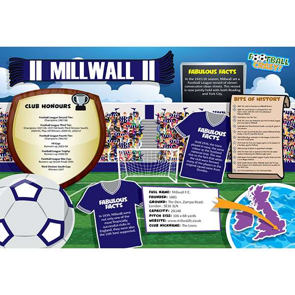 FOOTBALL CRAZY MILLWALL 400 PIECE Image