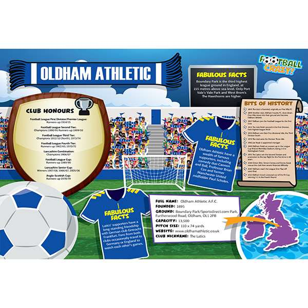 FOOTBALL CRAZY OLDHAM ATHLETIC 400 PIECE Image