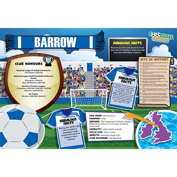 FOOTBALL CRAZY BARROW 400 PIECE Image