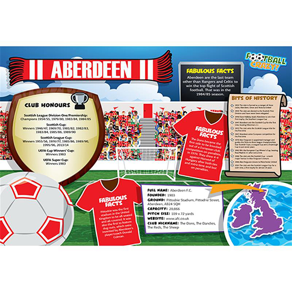 FOOTBALL CRAZY ABERDEEN 400 PIECE Image