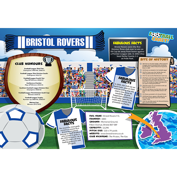 FOOTBALL CRAZY BRISTOL ROVERS 400 PIECE Image