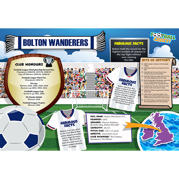 FOOTBALL CRAZY BOLTON WANDERERS 400 PIECE Image
