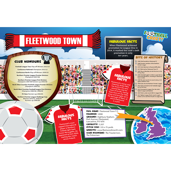 FOOTBALL CRAZY FLEETWOOD TOWN 400 PIECE Image