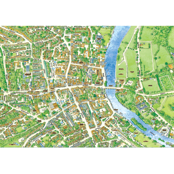 JIGRAPHY CITYSCAPES HENLEY ON THAMES 1000 PIECE Image