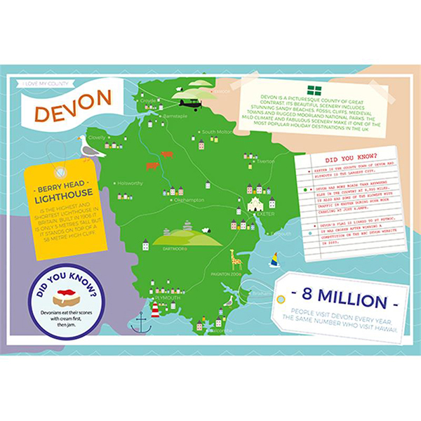 I LOVE MY COUNTY DEVON 400 PIECE Image