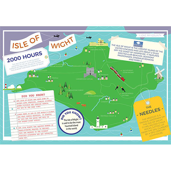I LOVE MY COUNTY ISLE OF WIGHT 400 PIECE Image