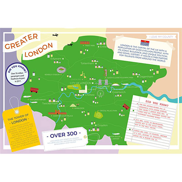I LOVE MY COUNTY GREATER LONDON 400 PIECE Image