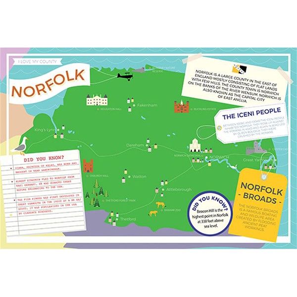 I LOVE MY COUNTY NORFOLK 400 PIECE Image