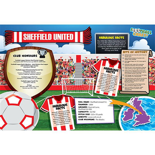 FOOTBALL CRAZY SHEFFIELD UTD 400 PIECE Image