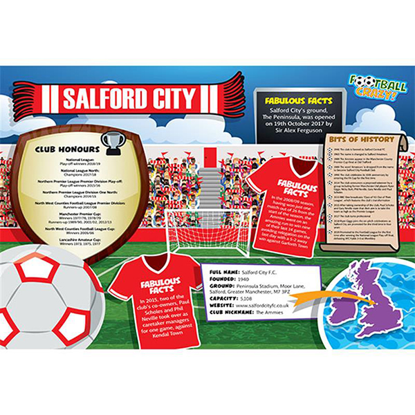 FOOTBALL CRAZY SALFORD CITY  400 PIECE Image