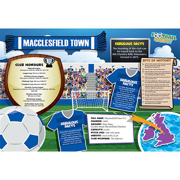 FOOTBALL CRAZY MACCLESFIELD TOWN 400 PIECE Image