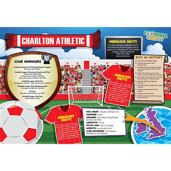 FOOTBALL CRAZY CHARLTON ATHLETIC 400 PIECE Image
