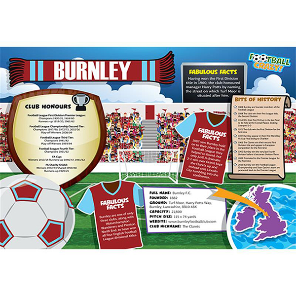 FOOTBALL CRAZY BURNLEY (CRF400) Image