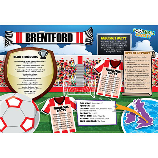FOOTBALL CRAZY BRENTFORD 400 PIECE Image