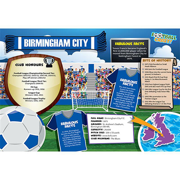 FOOTBALL CRAZY BIRMINGHAM CITY (CRF400) Image
