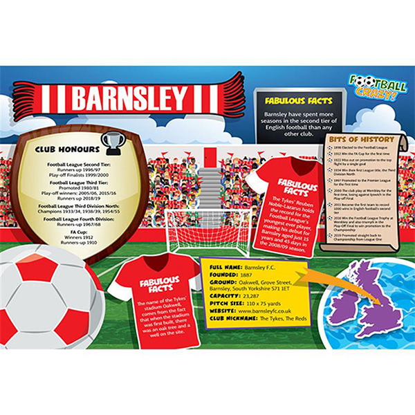FOOTBALL CRAZY BARNSLEY 400 PIECE Image