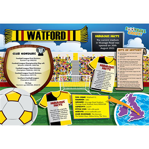 FOOTBALL CRAZY WATFORD 400 PIECE Image