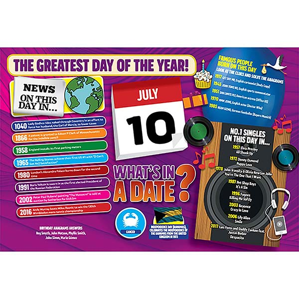 WHAT'S IN A DATE 10th JULY STANDARD 400 PIECE Image