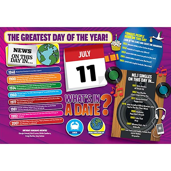 WHAT'S IN A DATE 11th JULY STANDARD 400 PIECE Image