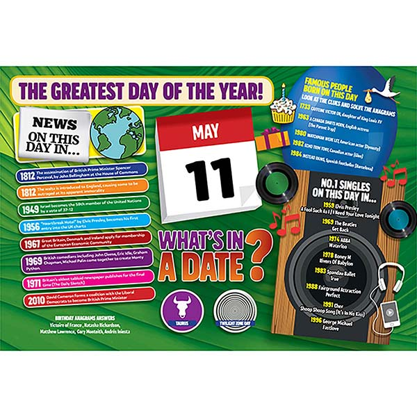 WHAT'S IN A DATE 11th MAY STANDARD 400 PIECE Image