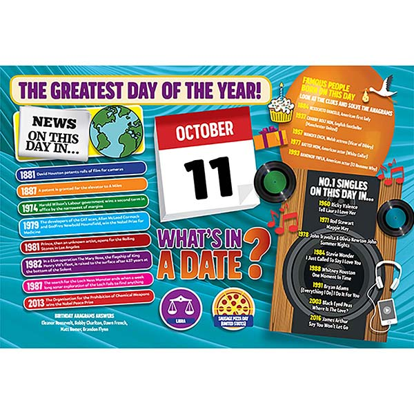 WHAT'S IN A DATE 11th OCTOBER STANDARD 400 PIECE Image