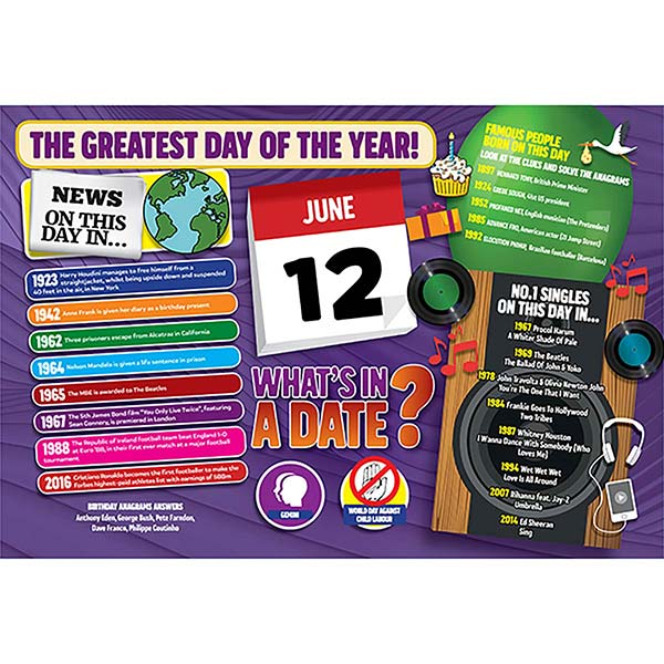 WHAT'S IN A DATE 12th JUNE STANDARD 400 PIECE Image
