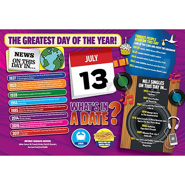 WHAT'S IN A DATE 13th JULY STANDARD 400 PIECE Image