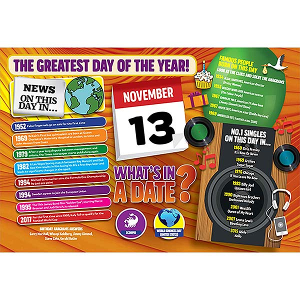 WHAT'S IN A DATE 13th NOVEMBER STANDARD 400 PIECE Image