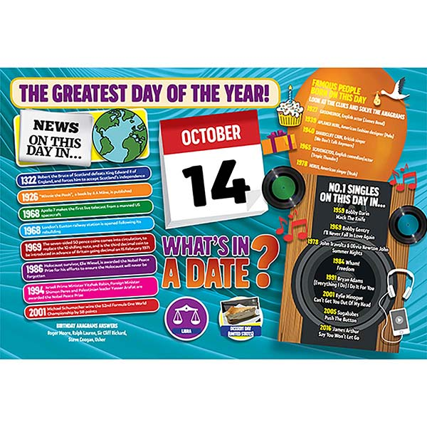 WHAT'S IN A DATE 14th OCTOBER STANDARD 400 PIECE Image