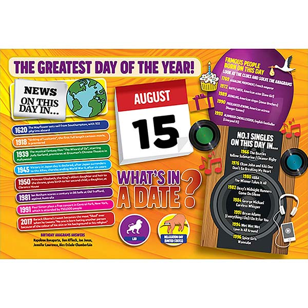 WHAT'S IN A DATE 15th AUGUST STANDARD 400 PIECE Image