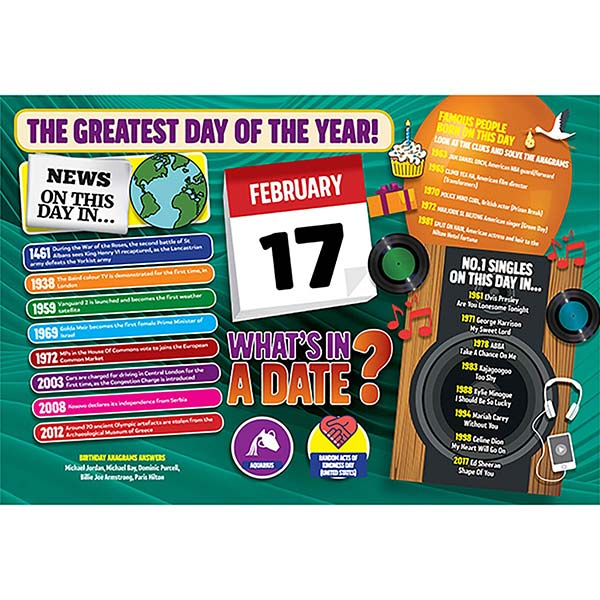 WHAT'S IN A DATE 17th FEBRUARY STANDARD 400 PIECE Image