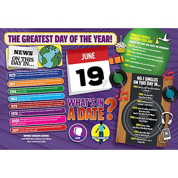 WHAT'S IN A DATE 19th JUNE STANDARD 400 PIECE Image