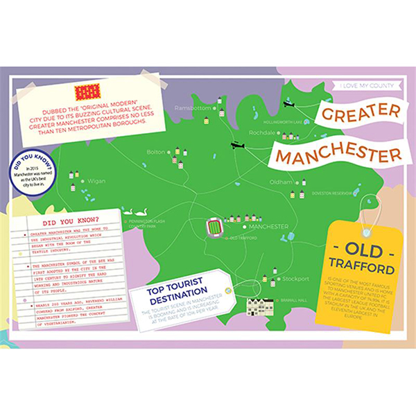 I LOVE MY COUNTY GREATER MANCHESTER 400 PIECE Image