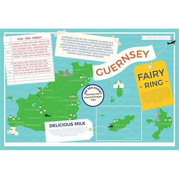 I LOVE MY COUNTY GUERNSEY 400 PIECE Image