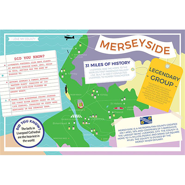 I LOVE MY COUNTY MERSEYSIDE 400 PIECE Image
