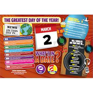 WHAT'S IN A DATE 2nd MARCH STANDARD 400 PIECE