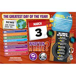 WHAT'S IN A DATE 3rd MARCH STANDARD 400 PIECE