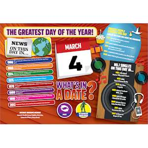 WHAT'S IN A DATE 4th MARCH STANDARD 400 PIECE