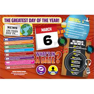 WHAT'S IN A DATE 6th MARCH STANDARD 400 PIECE