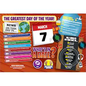 WHAT'S IN A DATE 7th MARCH STANDARD 400 PIECE