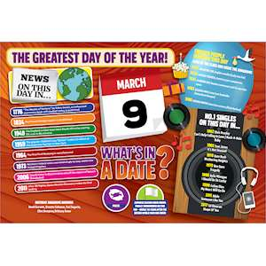 WHAT'S IN A DATE 9th MARCH STANDARD 400 PIECE